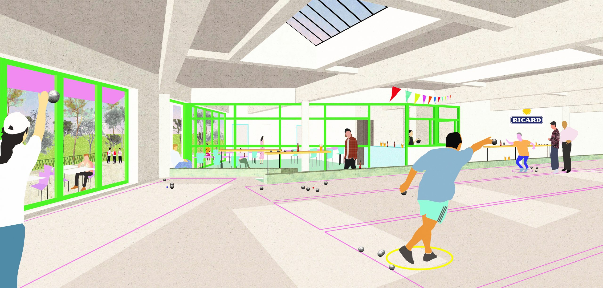 Avant-projet PAULUS_BOULODROME ©LEDROIT-PIERRET-POLET-Architectes-_PIGEON-OCHEJ-Paysage
